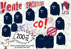 Commande des sweatshirts LFS @ bureau des ASC.