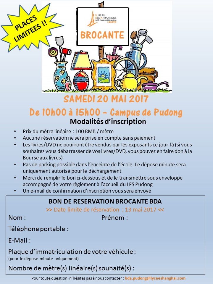 AFFICHE ET INSCRIPTION BROCANTE VF