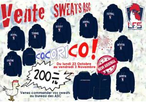 Vente de Sweats ASC