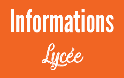 Informations lycee