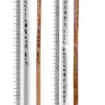 7- Lamelles de bambou excavées avec caractères et mesures