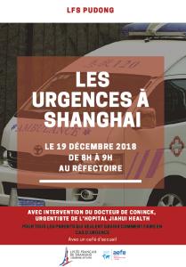 Conférence sur les urgences avec l'intervention du docteur De Conninck