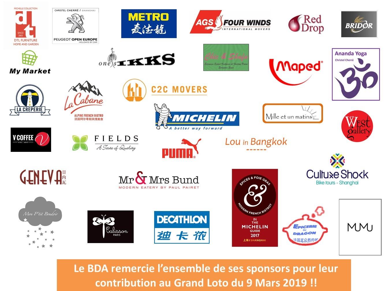 Sponsors BDA 2