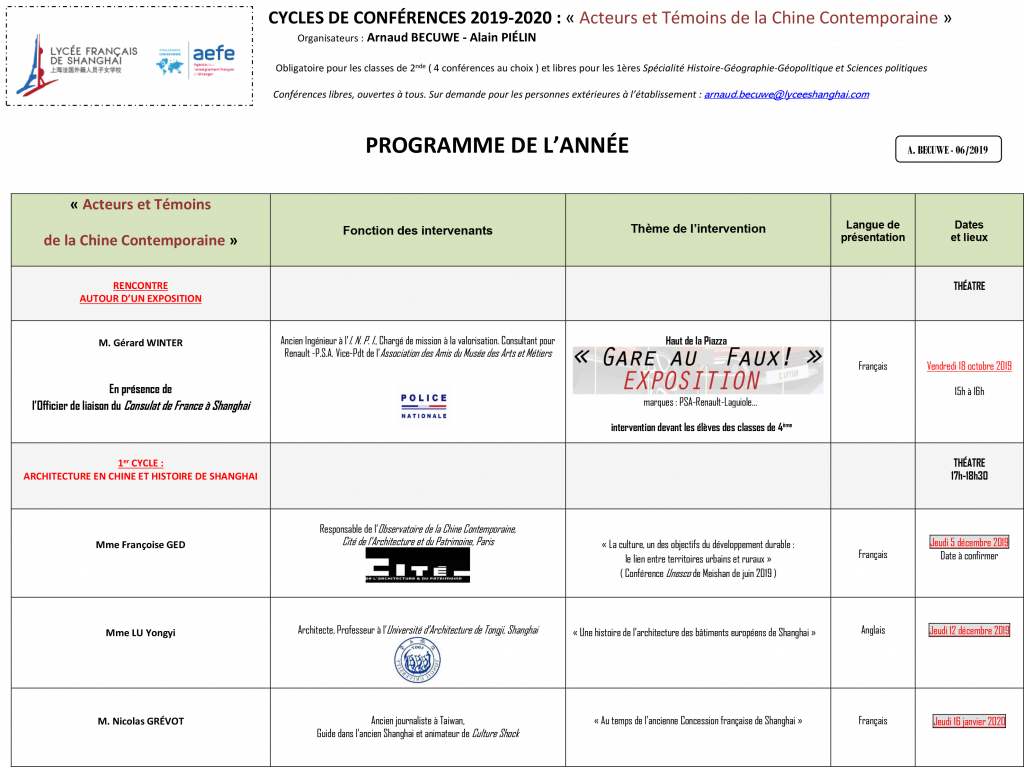Programme Conférences Final Version 2 L.F.S. 2019-2020 1
